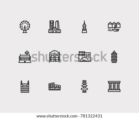 travel cities icon set  germany