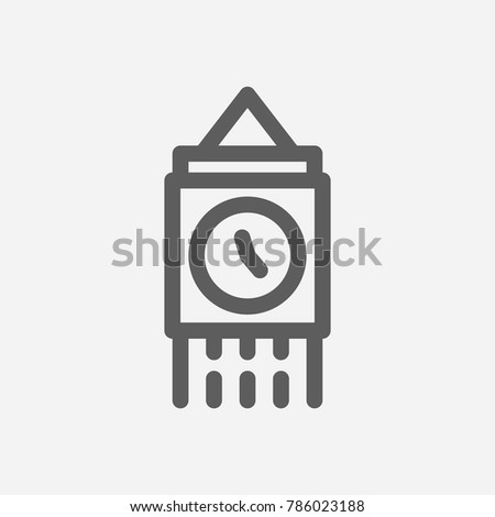 Travel city series. Symbol of country london city icon. Isolated vector illustration of big ben, london, england icon for app mobile web logo UI design.