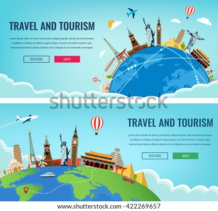 travel composition with famous