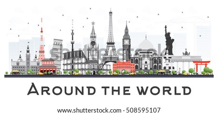 travel concept around the world