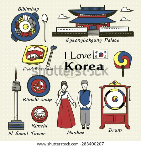 travel concept  korea famous