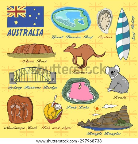 travel concept of australia in