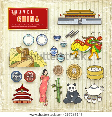 travel concept of china in hand