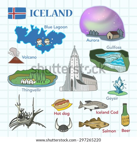 travel concept of iceland in