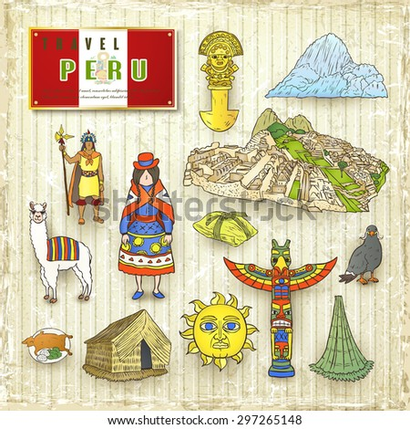 travel concept of peru in hand