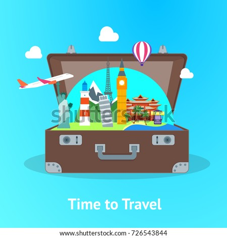 travel concept with open