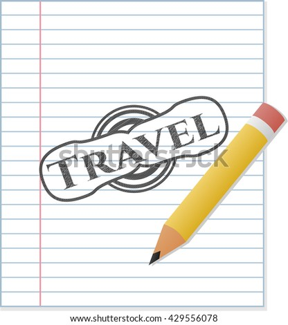 Travel draw with pencil effect