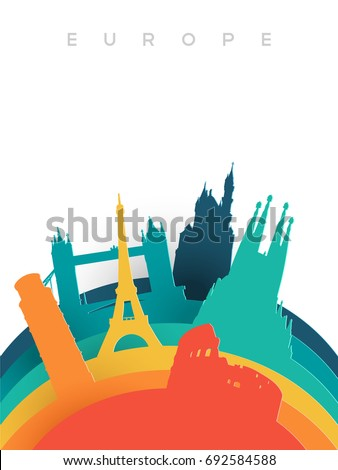 travel europe illustration in
