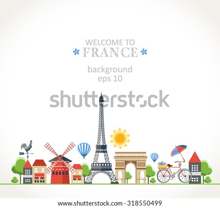 Travel France panorama background