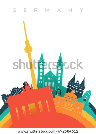 travel germany illustration in