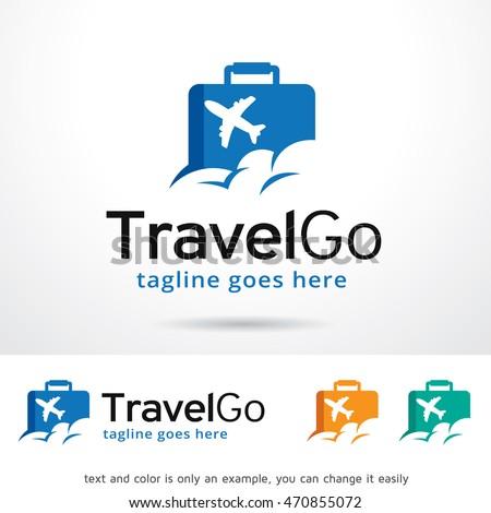 Travel Go Logo Template Design Vector