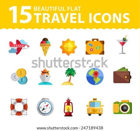 Travel icon modern style flat