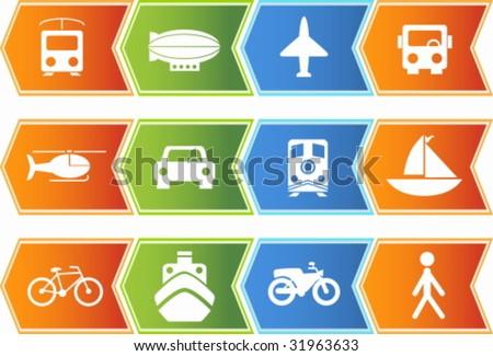 Travel Icon Set Chevron
