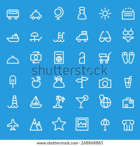 travel icon  simple and thin