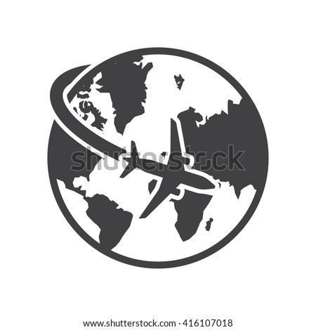 Travel Icon Vector Illustration on the white background.