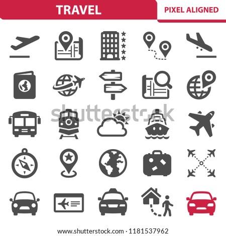 travel icons professional