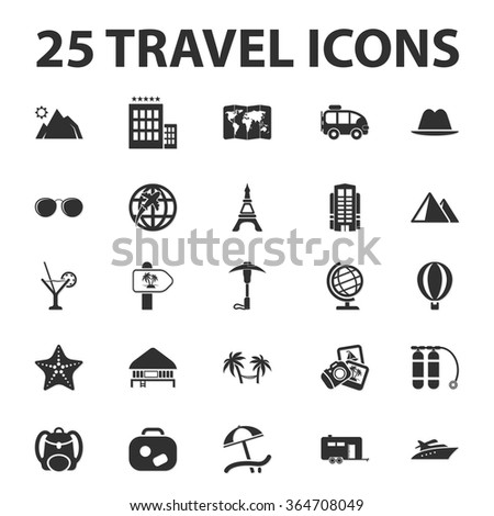 travel icons set travel icons