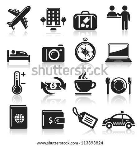 travel icons set1. vector eps 10