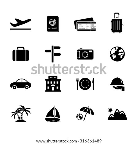 Travel icons. Vacation icon. Vector. Illustration. EPS10