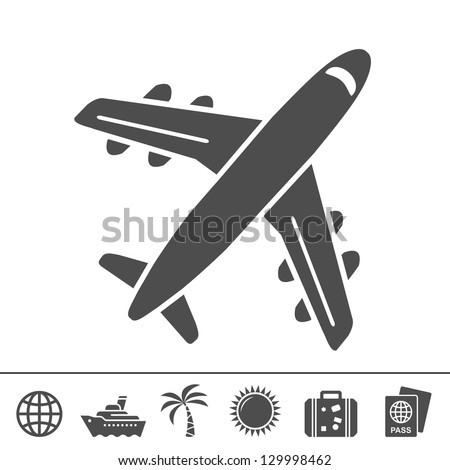 Travel icons. Vector illustration