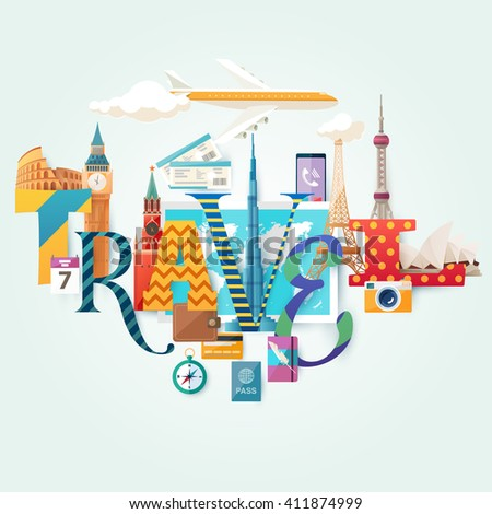 travel illustration with