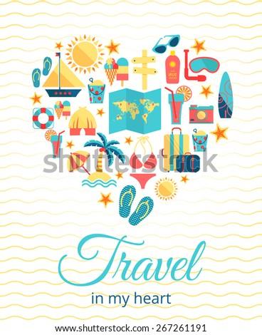 travel in my heart vector