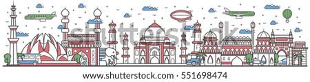 travel india landmark banner