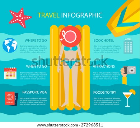 travel infographic with young