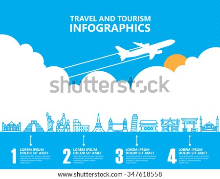 travel infographics  landmark