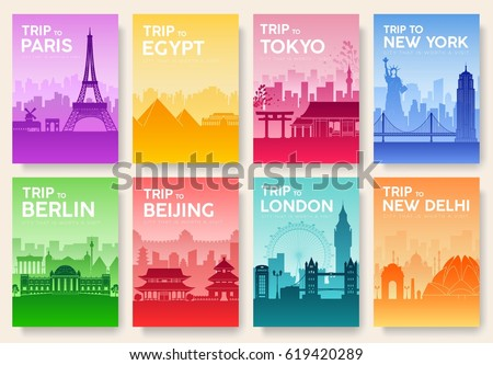 landscape template of flyear magazines posters book cover - Egypt Brochure Templates