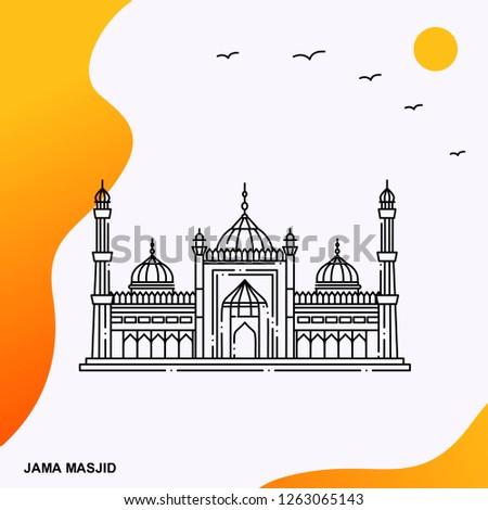 Travel JAMA MASJID Poster Template