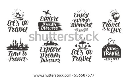 travel  journey vector set