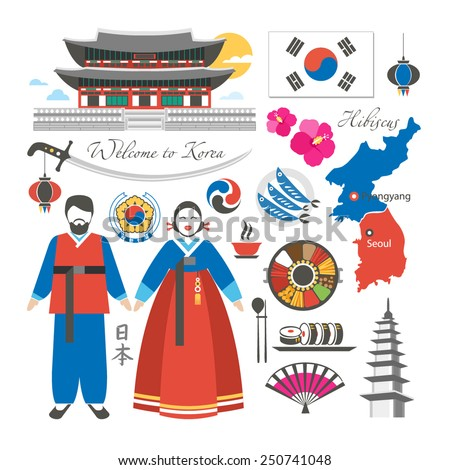 travel korea symbols