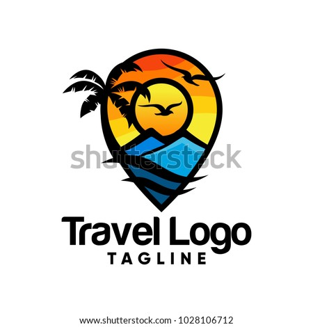 Travel logo icon vector design illustration