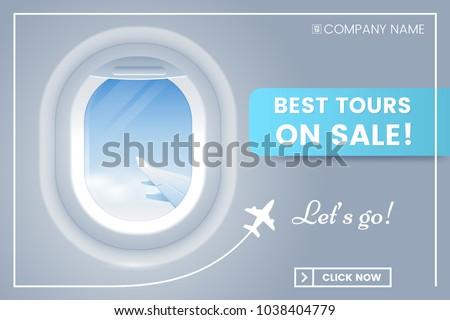 travel offer banner concept