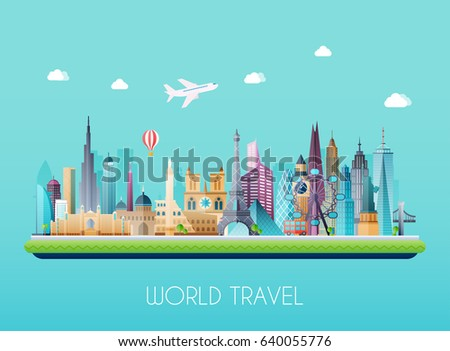 travel on the world concept