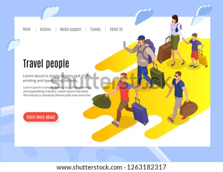 travel people landing page with