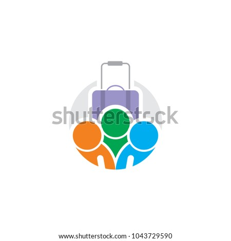 Travel People Logo Icon Design