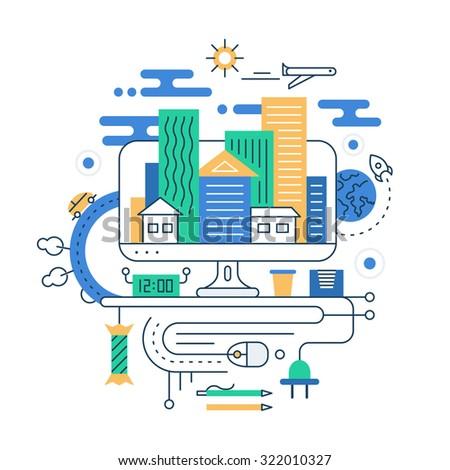travel planning illustration