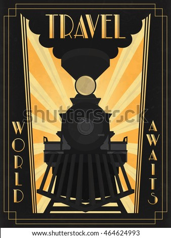 travel poster in art deco style