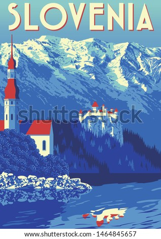 travel poster of slovenia