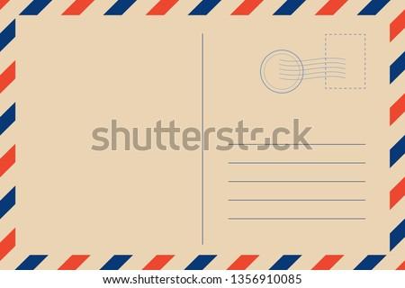 Travel retro postcard blank