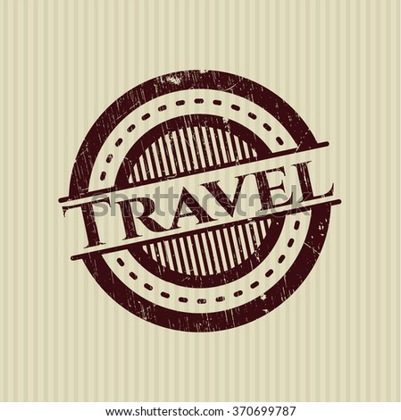 Travel rubber stamp