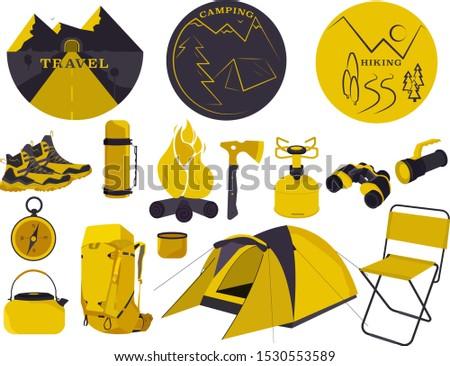 Travel set; hiking set; camping set