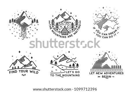 travel set with emblems summer