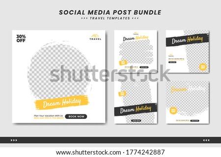 Travel social media post banner template