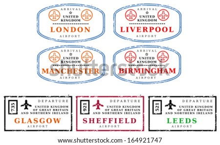 travel stamps from united