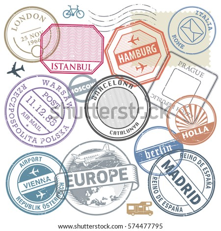 travel stamps or adventure...