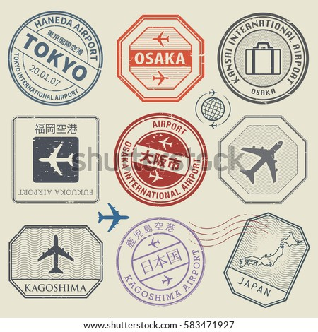 travel stamps or adventure