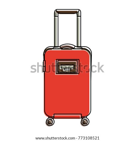 travel suitcase with retractable handle and wheels luggage